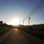 秋の景色(夕日)