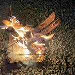 焚き火焼きマシュマロ(スモア)